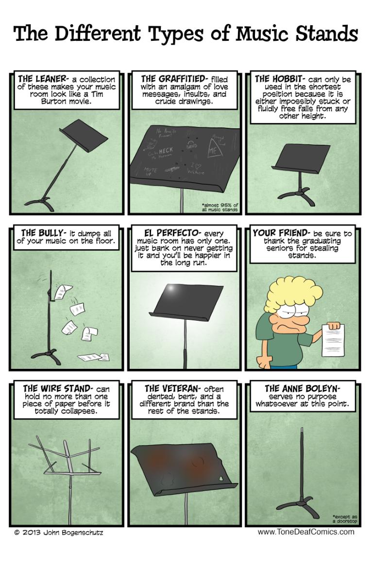 Atriles de música - Diferentes Tipos - Humor