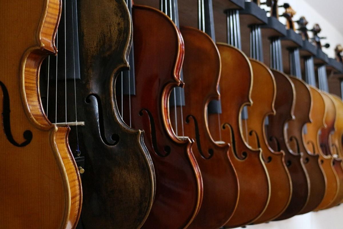 Descansar para tocar mejor - Violines en fila