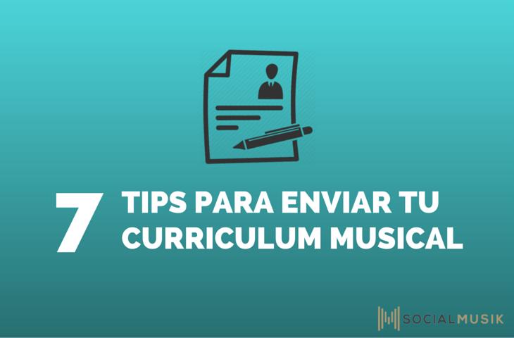 7 tips enviar currículum musical
