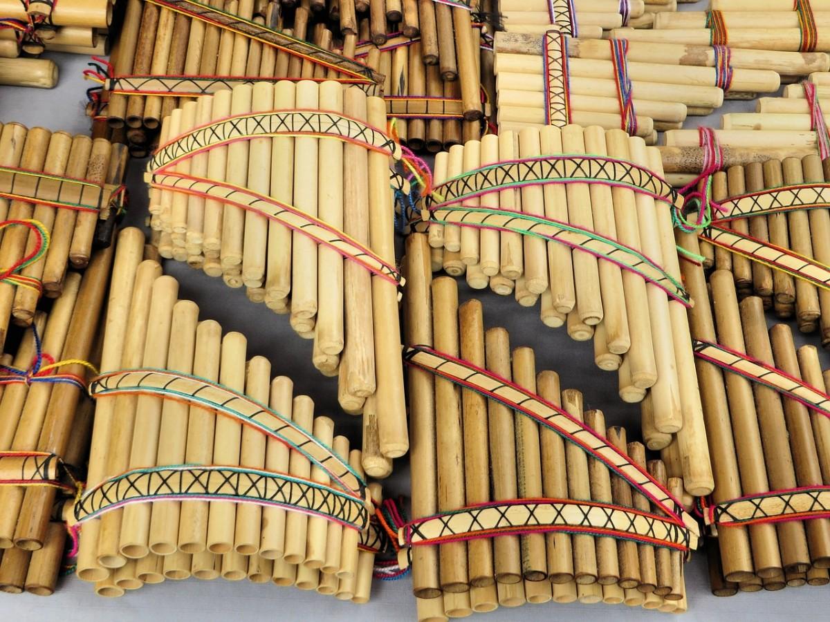 flauta de pan manualidad