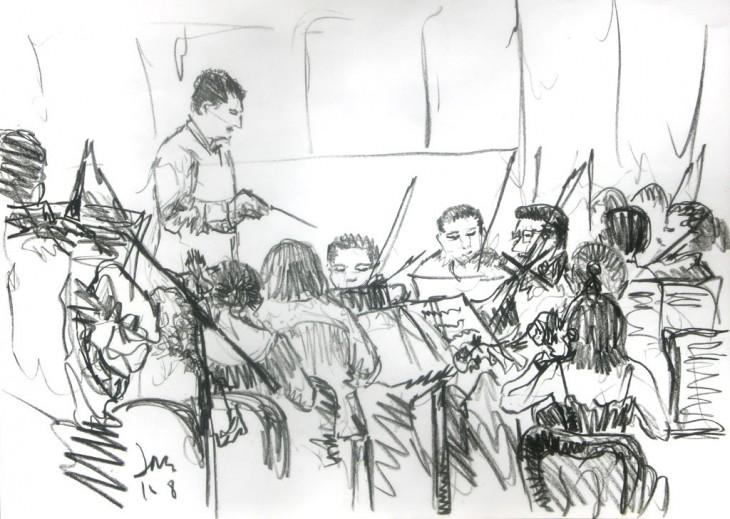orquesta producir concierto